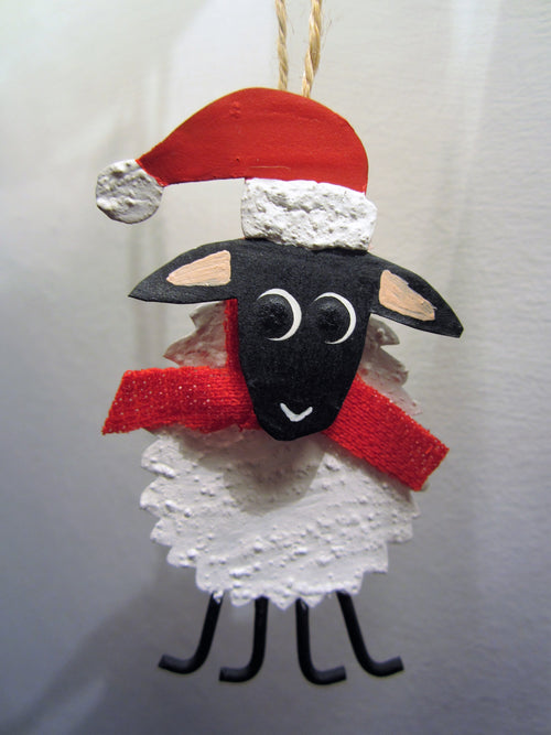 Winter Wooly Sheep Hanging Decoration
