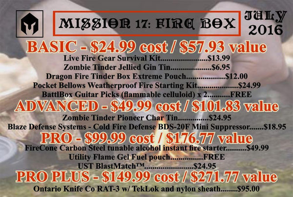 Mission 17 July 2016 BattlBox - Fire Box