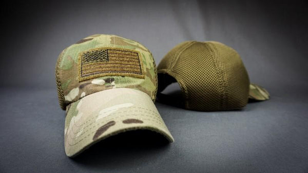 American Made Multicam Mesh Back Patch Hat  (FREE SHIPPING)