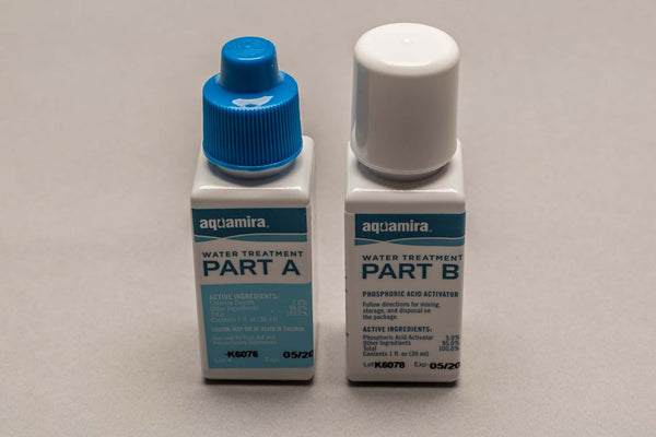 Aquamira 2 part 1 oz bottles Water Treatment Drops(Chlorine Dioxide) FREE SHIPPING!!!