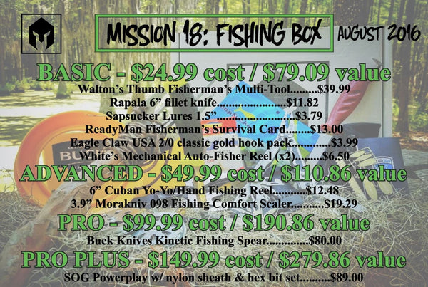 Mission 18 August 2016 BattlBox - Fishing Box