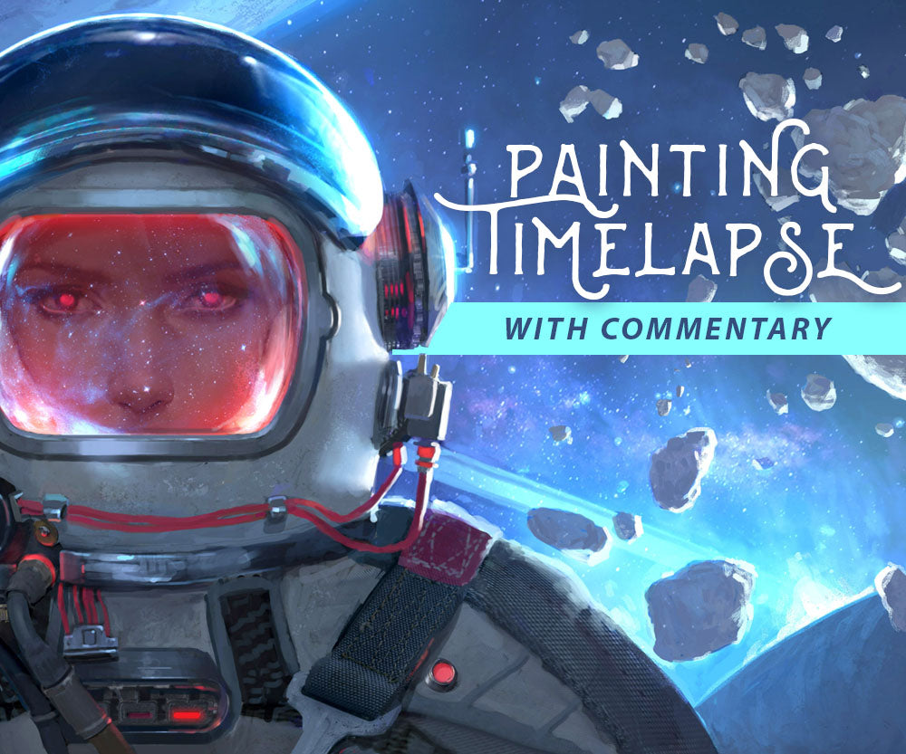 Astronaut Painting Process video