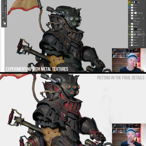 Combustion Knight Painting Process