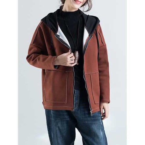 Casual Women Thick Hooded Coat