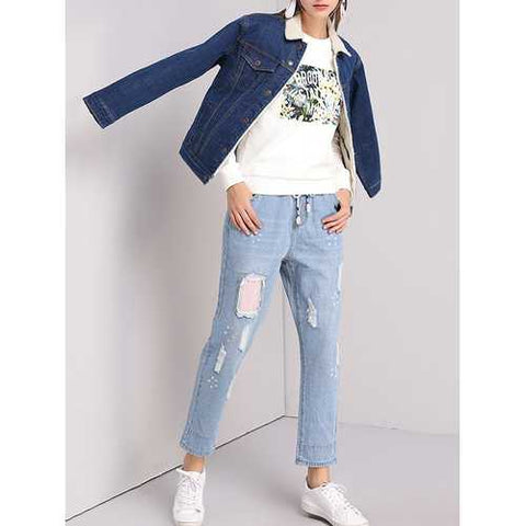 XL-5XL Casual Women Thick Denim Jackets