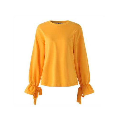 Plus Size Casual Women Batwing Sleeve Bell Sleeve Sweatshirt