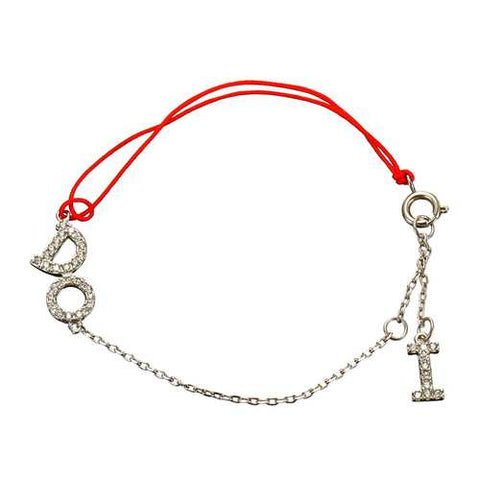 JASSY Red Rope Sterling Silver Sweet Dazzling Bracelet
