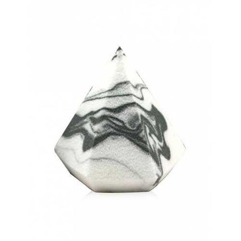 Professional Diamond Marble Pattern Makeup Sponge - White One Size