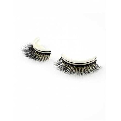 Pair of Natural Looking Volumizing Glue Free False Eyelashes - #001