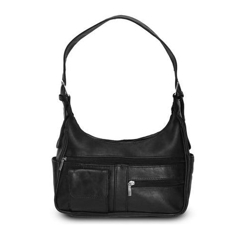 AFONiE- Timeless Shoulder Leather Handbag-Black Color