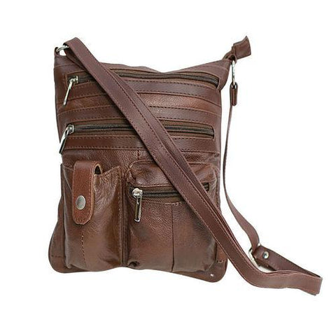 Unisex Fashionable Crossbody Genuine Leather Bag - CH-026
