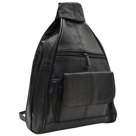 Leather Zippered Backpack Style