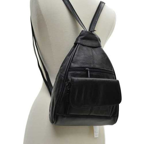 Leather Sling Organizer Leather Backpack