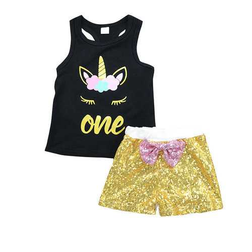 Animal Pattern Girls Short Sets
