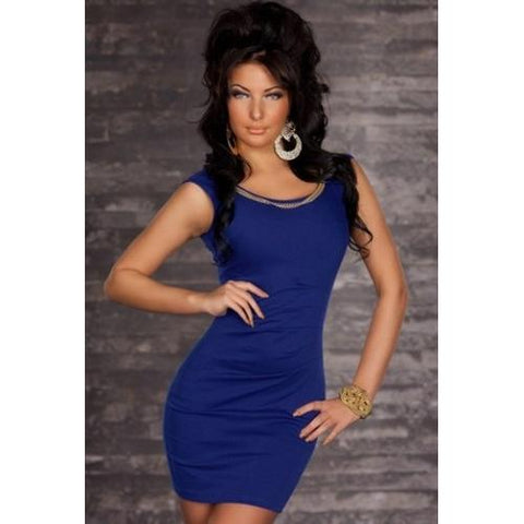 Blue Casual Style Mini Dress
