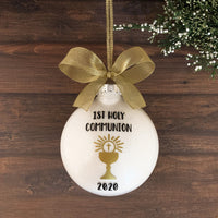 First Communion Christmas Ornament, First Holy Communion Gifts