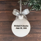25th Wedding Anniversary Ornament, 25th Anniversary Gifts