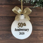 50th Wedding Anniversary Ornament, Gold 50th Anniversary Gifts