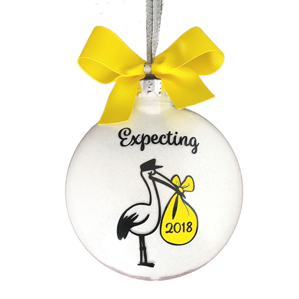 Expecting Christmas Ornaments, Stork Ornament