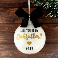 Will You Be My Godfather Ornament, Gifts For Godfathers At Baptism