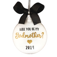 Will You Be My Godmother Ornament, Baptism Gifts For Godmother
