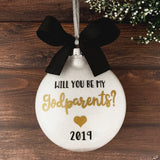 Will You Be My Godparents Ornament, Baptism Gifts For Godparents
