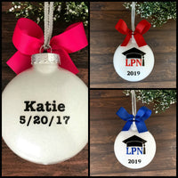 LPN Graduation Gifts, Nurse Ornaments Personalized