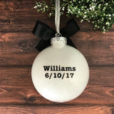 Wedding Christmas Ornament, We Said I Do