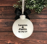 Engagement Ornaments, Personalized Engagement Gifts