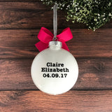 Baptism Ornament, Baptism Gifts For Girls