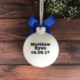 Baptism Christmas Ornament, Baptism Gifts For Boys