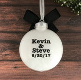 Gay Engaged Ornament, Engagement Gift For Gay Couple