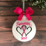 Breast Cancer Ornaments, Cancer Survivor Gifts