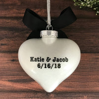 Personalized Engagement Ornament, Engaged Gifts