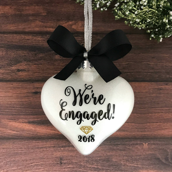 personalized engagement ornament engaged gifts