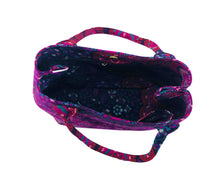 Top view of Purple Mandala Shoulder Bag Cotton Handbag by Idaman Suri