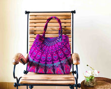 Purple Mandala Shoulder Bag Cotton Handbag by Idaman Suri