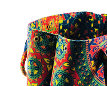 Close-up of Multicoloured Mandala Shoulder Bag Cotton Handbag by Idaman Suri