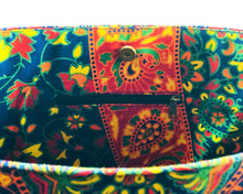 Inner Zip of Multicoloured Mandala Shoulder Bag Cotton Handbag by Idaman Suri
