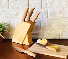 6pcs Knife Set with Wooden Stand