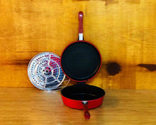 Opened Red Non-Stick Double Round Frying Pan 26cm by Idaman Suri