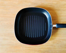 Top Angle Teflon Black Non-Stick Square Grill Pan 26cm by Idaman Suri