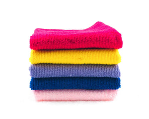 5 Folded Microfibre Towels by Idaman Suri