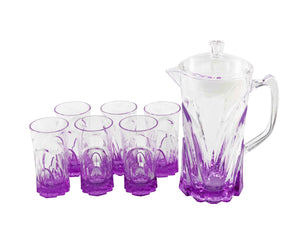 Cassis Acrylic 7pc Jug Set