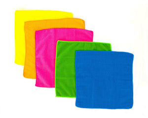 5 Opened Microfibre Towels by Idaman Suri