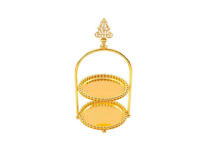 Two-Tiered Gold Tray