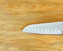 Close-up view of 1 Stainless Steel Santoku Knife Blade by Idaman Suri