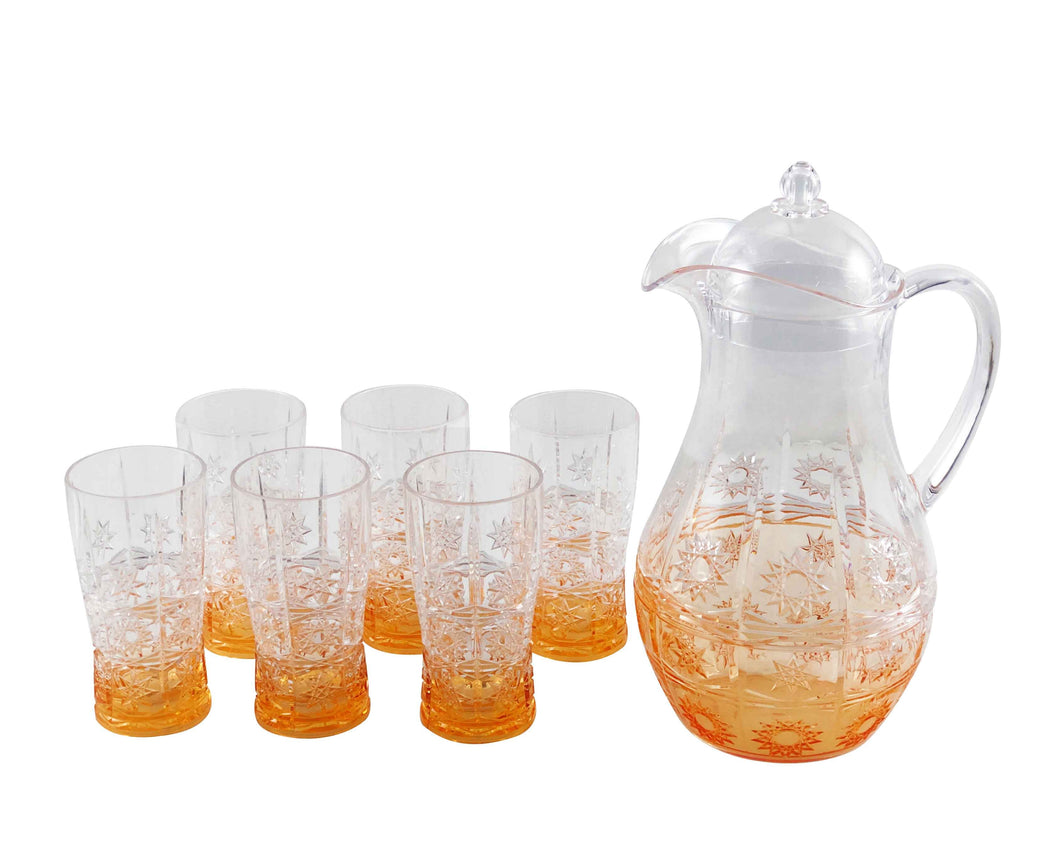 Oranz Acrylic 7pc Jug Set
