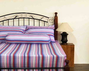 Rayas Cotton Fitted Bedsheet