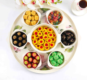 Melamine Snack Bowl Set with Tray